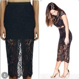 Misha Collection Amara Lace Skirt Small (0-4)